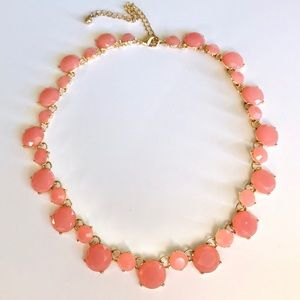 Pink and Gold-Tone Necklace
